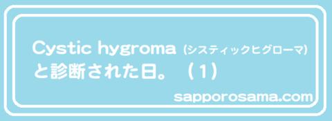 Cystic hygroma(システィックヒグローマ)と診断された日。(1).png