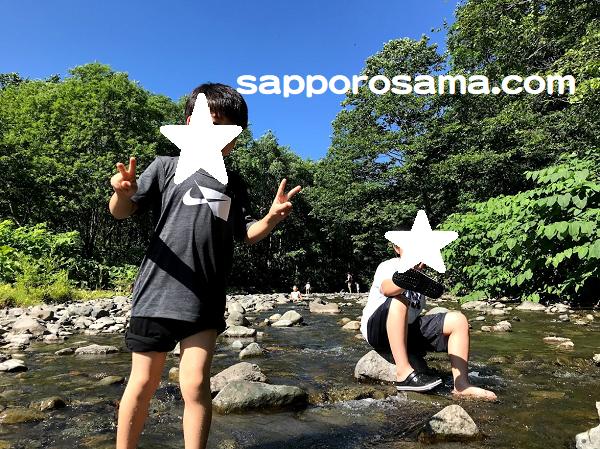一番川オートキャンプ場川遊び2.png